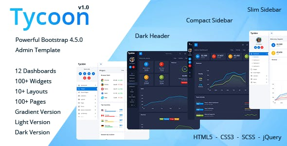 Tycoon - Bootstrap 4 Admin Template