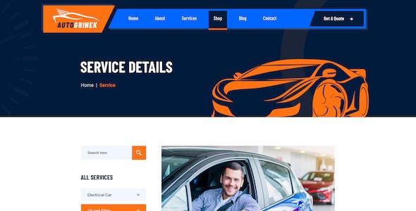 Autogrinek - Auto Service and Car Repair XD Template