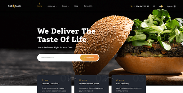 DeliTaste - Food Delivery Restaurant Directory HTML Template - Food Retail