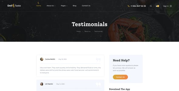 DeliTaste - Food Delivery Restaurant Directory HTML Template