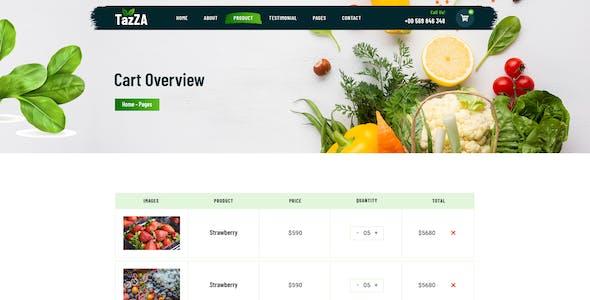 TazZA - Organic Food Figma Template