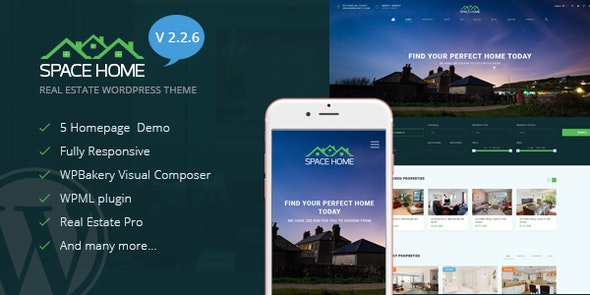 Space Home Real Estate Wordpress Theme By Templaza Hub Themeforest