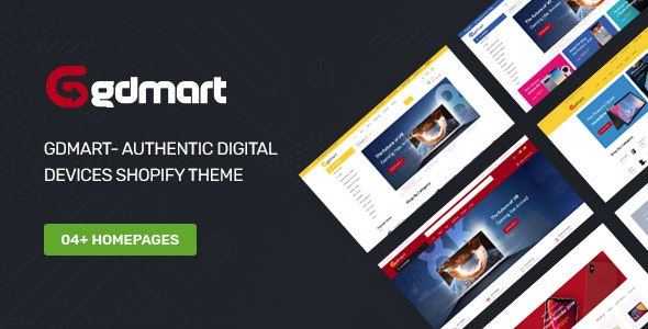 Gdmart- Authentic Digital Devices Shopify Theme - Technology Shopify