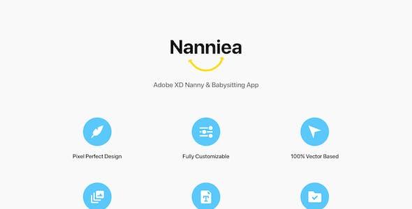 Nanniea - Adobe XD Nanny & Babysitting App