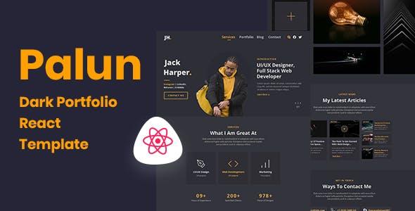 Download Palun - Portfolio React JS Template