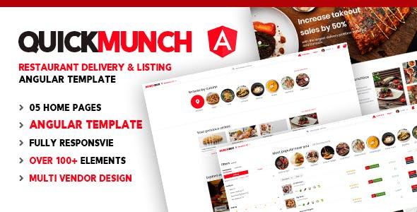 Quickmunch | Restaurant Listing Angular Template