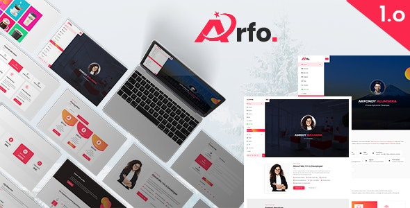 Arfo | Personal Portfolio Resume HTML5 Template - Portfolio Creative