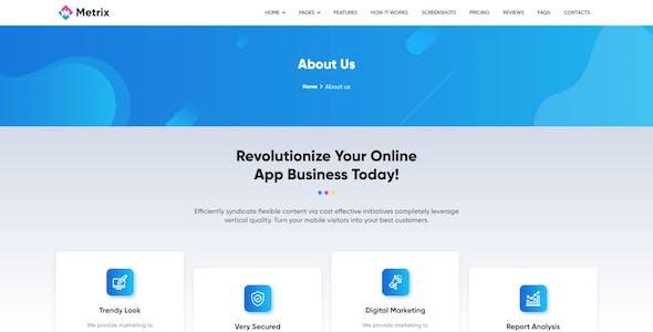 Metrix - App Landing Page Html Template
