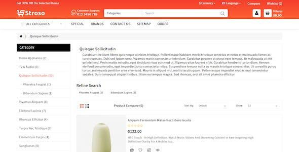 Stroso - Multipurpose Premium Opencart 3 Theme