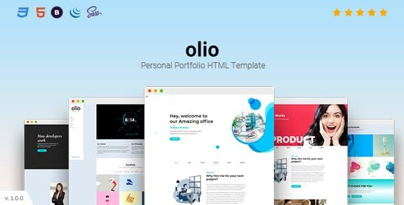 Download olio - Personal Portfolio HTML5 Template