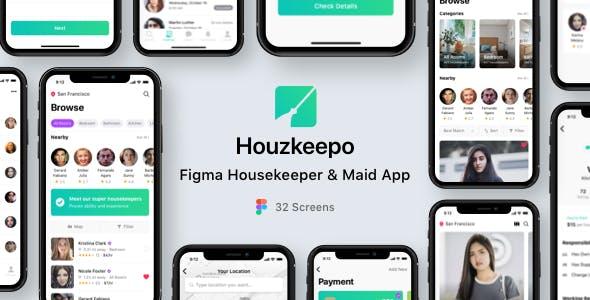 Houzkeepo - Figma Housekeeper & Maid App