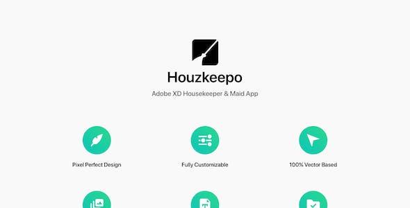 Houzkeepo - Adobe XD Housekeeper & Maid App