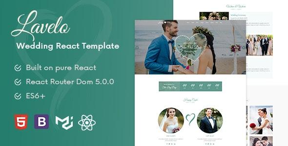 Lavelo - React Wedding Template - Wedding Site Templates