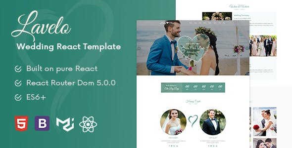 Download Lavelo - React Wedding Template