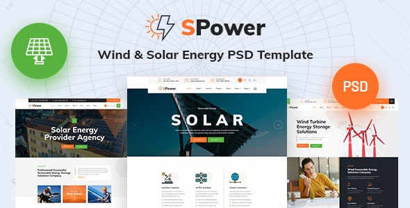 SPower - Wind & Solar Energy PSD Template - Business Corporate