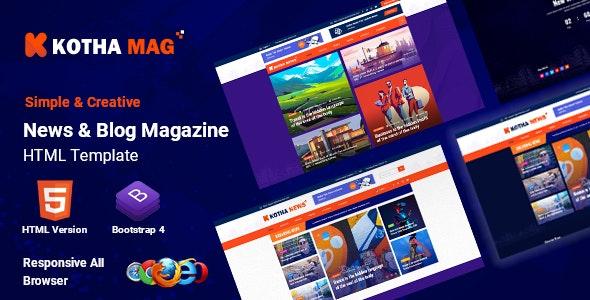 Kotha Mag - HTML5 News Magazine Template - Creative Site Templates