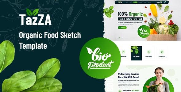 TazZA - Organic Food Sketch Template - Food Retail