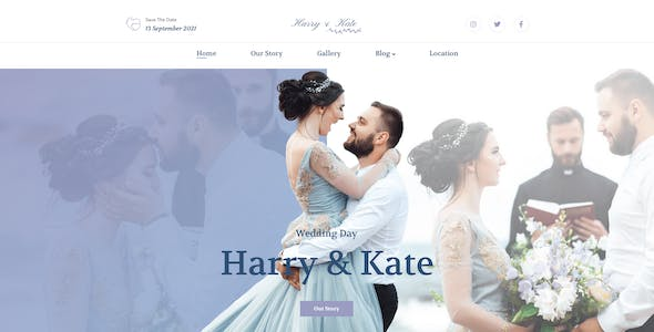 Lovedy – Wedding Template for Photoshop