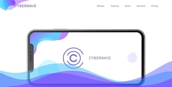 Cyberwave - App Landing Figma Template
