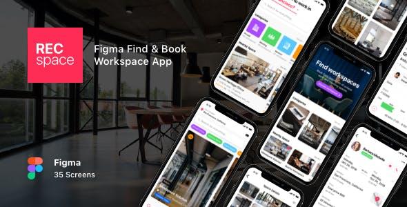 RECspace - Figma Find & Book Workspace App