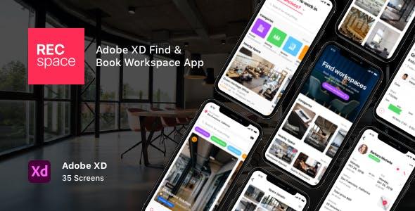RECspace - Adobe XD Find & Book Workspace App