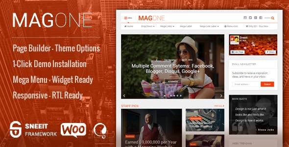 MagOne - Responsive Magazine & News WordPress Theme