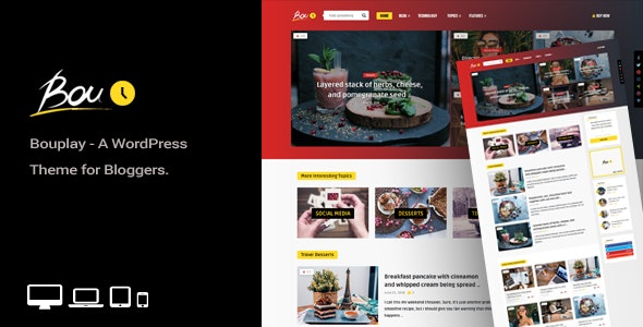 Bouplay WP - A WordPress Theme for Bloggers - News / Editorial Blog / Magazine