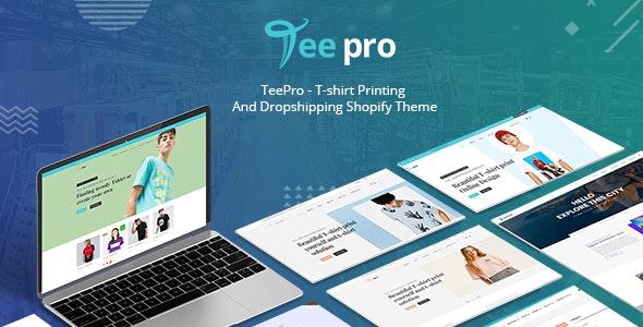 TEEPRO - T-shirt Online Designer Printing And Dropshipping Shopify Theme - Fashion Shopify