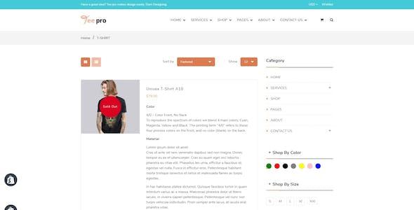 TEEPRO - T-shirt Printing And Dropshipping Shopify Theme