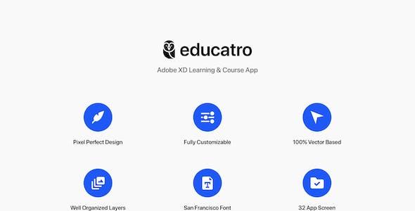 Educatro - Adobe XD Learning & Course App