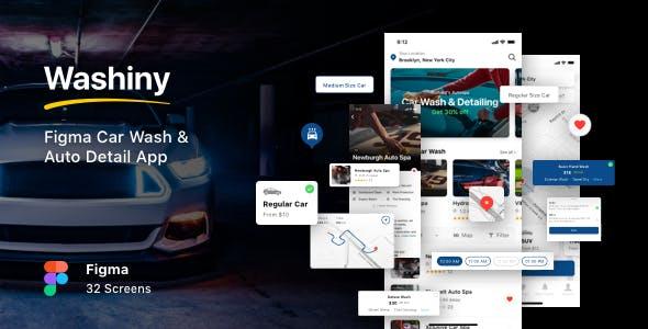 Washiny - Figma Car Wash & Auto Detail App