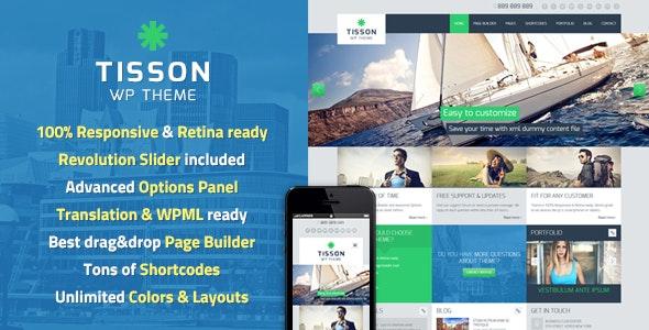 Tisson WordPress Theme - Business Corporate