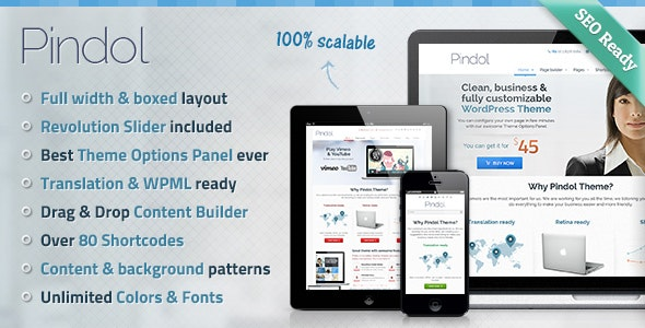 Pindol WordPress Theme - Business Corporate