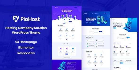 Download Piohost - Domain and Web Hosting WordPress Theme