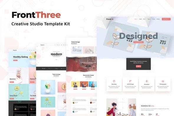 FrontThree - Creative Studio Template Kit - Creative & Design Elementor