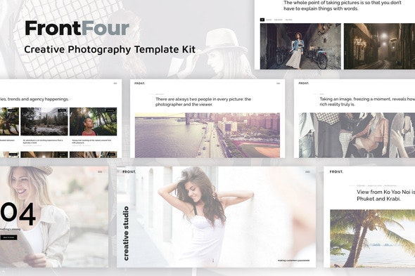 FrontFour - Creative Photography Template Kit - Photography Elementor