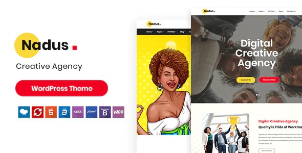 Nadus - Creative WordPress Theme - Portfolio Creative