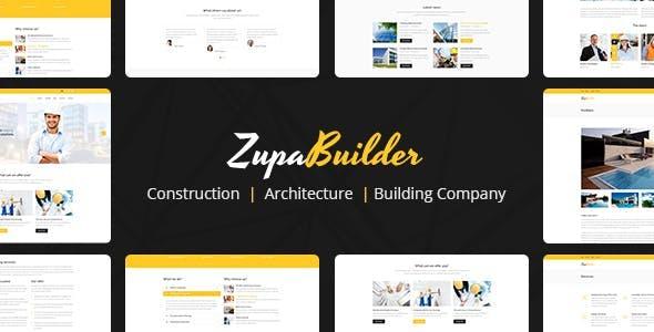ZupaBuilder – Building and Architectural Joomla Template