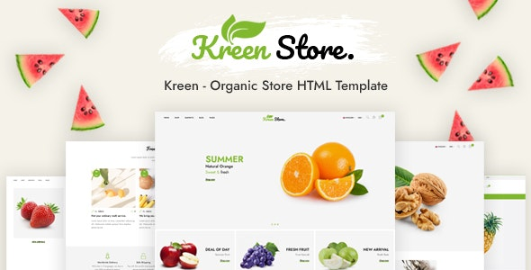 Kreen - Organic Store HTML Template - Food Retail