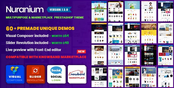 Nuranium | Multi-Purpose Marketplace Prestashop 1.7 Theme ( Compatible Knowband Marketplace ) - Shopping PrestaShop