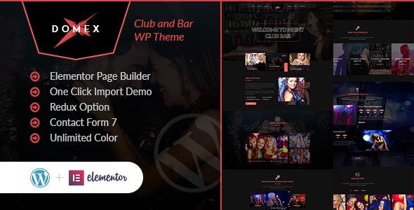 Domex - Night Club WordPress Theme - Nightlife Entertainment