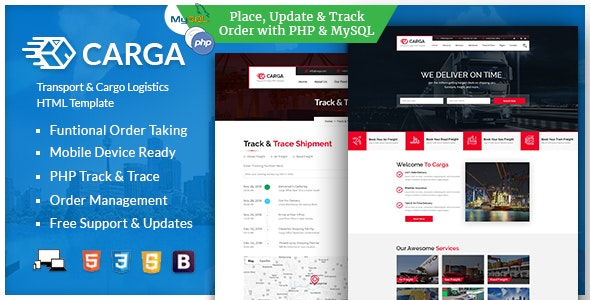 Carga - Transport & Cargo Responsive HTML Template - Business Corporate