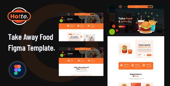 Hotte - Take Away Food Figma Template - Food Retail