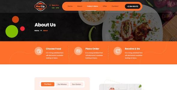 Hotte - Take Away Food Figma Template