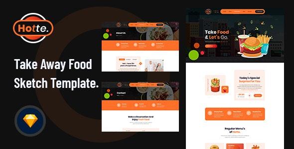 Hotte - Take Away Food Sketch Template - Food Retail