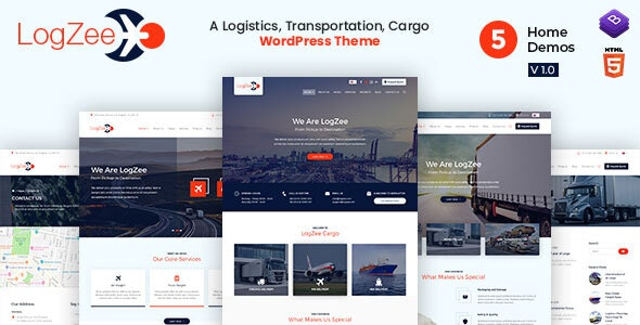Logzee | Logistics, Transportation, Cargo WordPress Theme - Business Corporate