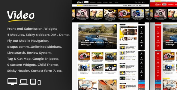 Video News = WordPress Magazine / Newspaper Theme - News / Editorial Blog / Magazine