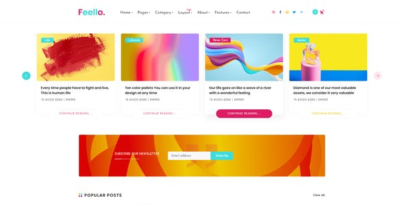 Feello - Personal Blog XD Template