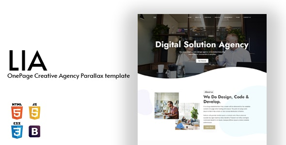 Lia - OnePage Creative Agency Parallax Template - Creative Site Templates