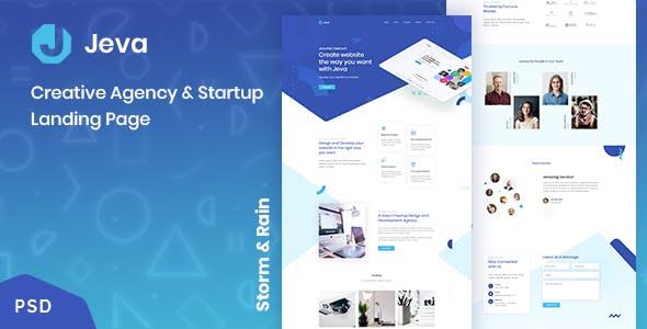 Jeva - Creative Agency & Startup Landing Page